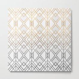 Gold And Grey Geo Metal Print