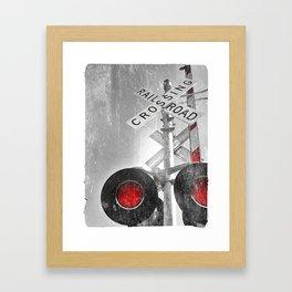 Blinking lights Framed Art Print