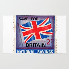 British War Savings Stamps Rug