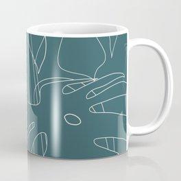 Monstera No2 Teal Coffee Mug