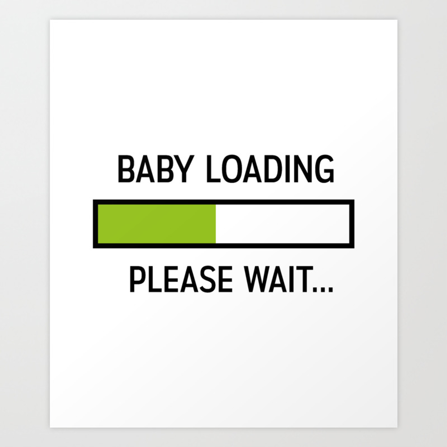 Baby Loading Funny Pregnancy New Mom Gifts Art Print