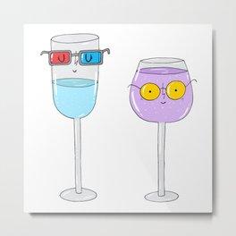 Glasses wearing glasses Metal Print