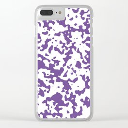 Spots - White and Dark Lavender Violet Clear iPhone Case