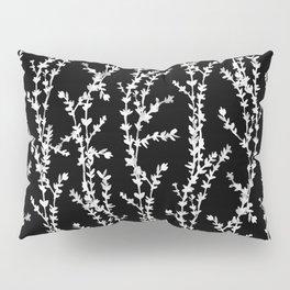 Vines (white on black, large pattern) Pillow Sham
