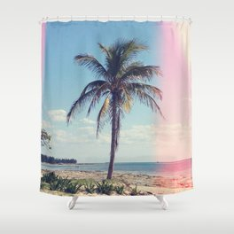 Palm Tree Light Leak Color Nature Photography Shower Curtain
