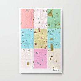Atlanta, Georgia, USA, city map Metal Print