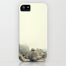 Misty rocks iPhone Case