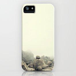 Misty rocks iPhone Case
