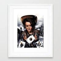 tyler oakley Framed Art Prints featuring Annie Oakley by LQCincinnatus
