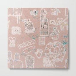 language of the wall Metal Print