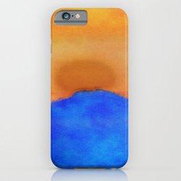 Blue landscape at sunset iPhone Case