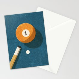 BILLIARDS / Ball 1 Stationery Cards