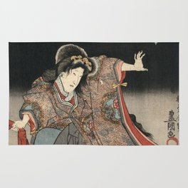 Utagawa Kunisada - An Actor In The Role Of Narutonomae. Rug