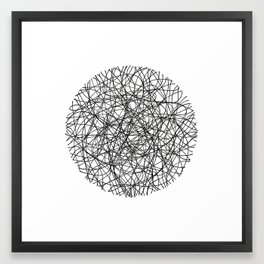 Circle / Lines Framed Art Print