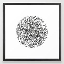 Circle / Lines Framed Art Print