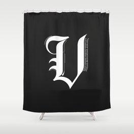 Letter V Shower Curtain