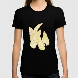 Banana Leaves on Yellow #society6 #decor #buyart T-shirt