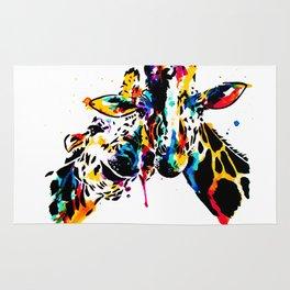 giraffe love Rug
