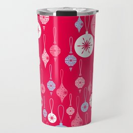Christmas Baubles - Red Travel Mug