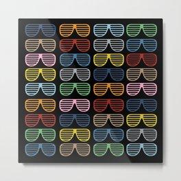 Rainbow Shutter Shades at Night Metal Print