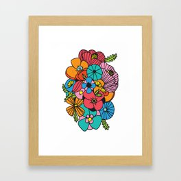 Flowers (White Background) Framed Art Print