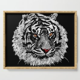 white tiger Serving Tray