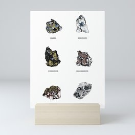 Rock collection with names Mini Art Print