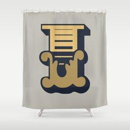 'The Letter I' Design Motif Shower Curtain