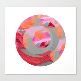 Circles and Flowers Canvas Print