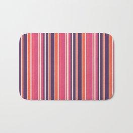 Happy Vertical LInes Pink Version Bath Mat
