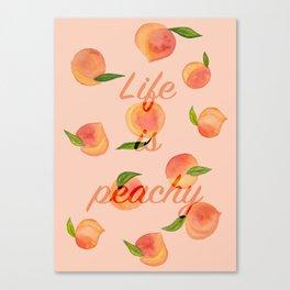 Life is peachy print Canvas Print