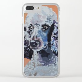 Purple Lady Poodle Clear iPhone Case