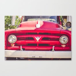 Fire Engine Red Canvas Print