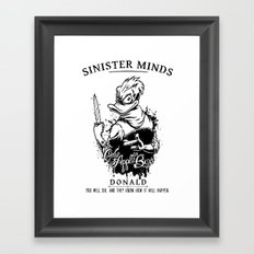 Sinister Minds. Donald Framed Art Print