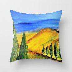 Toscana landscape Throw Pillow
