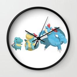 Watery Family #2 Wall Clock