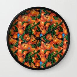 Florida Oranges Wall Clock