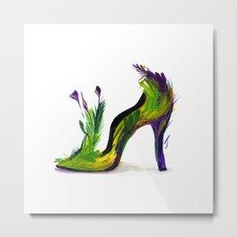 Feathered Heel Metal Print