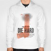 die hard Hoodies featuring Die Hard (Full poster variant) by aWharton