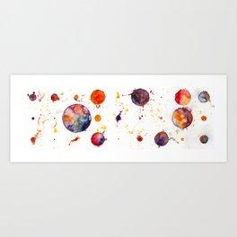 watercolor bubbles Art Print