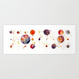 watercolor bubbles Art Print