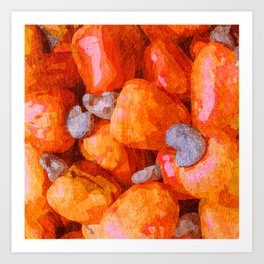Fruits - Caju Art Print