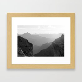 B&W Grand Canyon Sunrise Framed Art Print