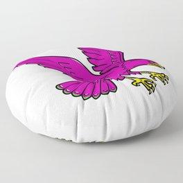 Peregrine Falcon Swoop Mono Line Floor Pillow