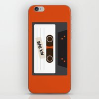 cassette iPhone & iPod Skins featuring Cassette by Ruveyda & Emre