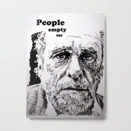PEOPLE EMPTY ME Metal Print