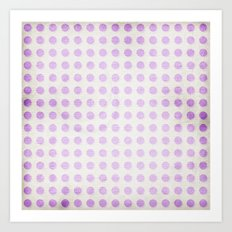 Polka dots and shadows on textured background Art Print