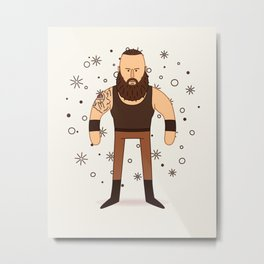Braun Strowman - Pro Wrestler Illustration Metal Print