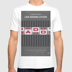 No738 My Law Abiding Citizen minimal movie poster White Mens Fitted Tee MEDIUM