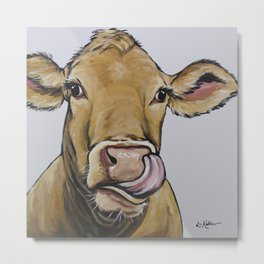Funny Cow Art, Daisy the Cow Metal Print